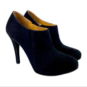 Merona stiletto heeled ankle shoeties booties -7.5